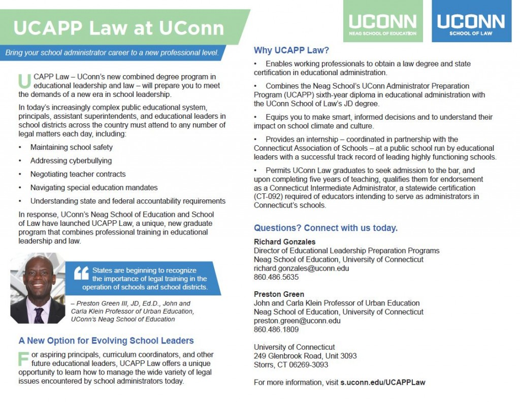 law uconn administrator preparation program ucapp law
