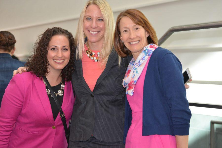 three women attendees at ucapp alumni forum