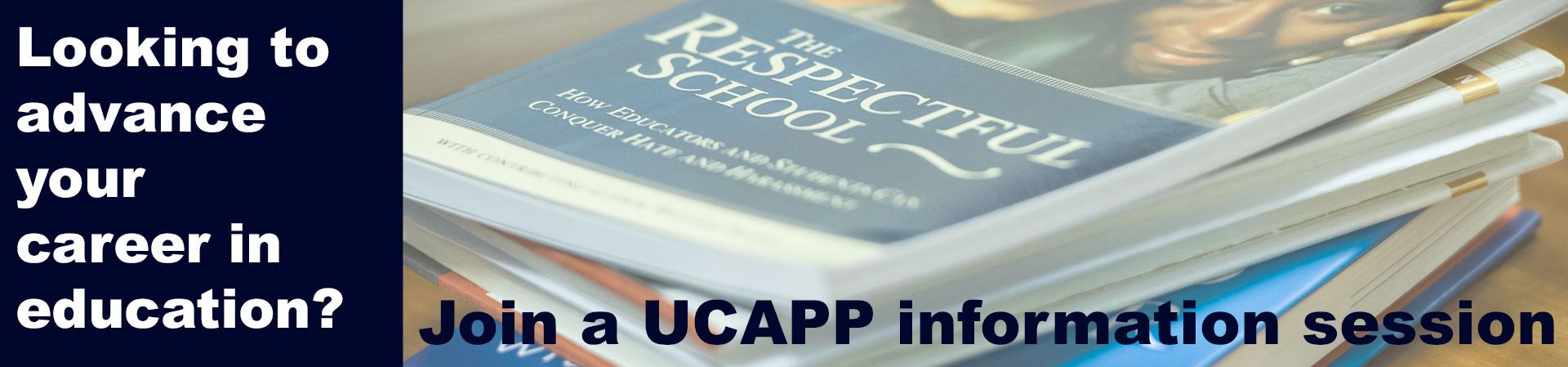 Leadership book highlighting UCAPP info sessions 2017