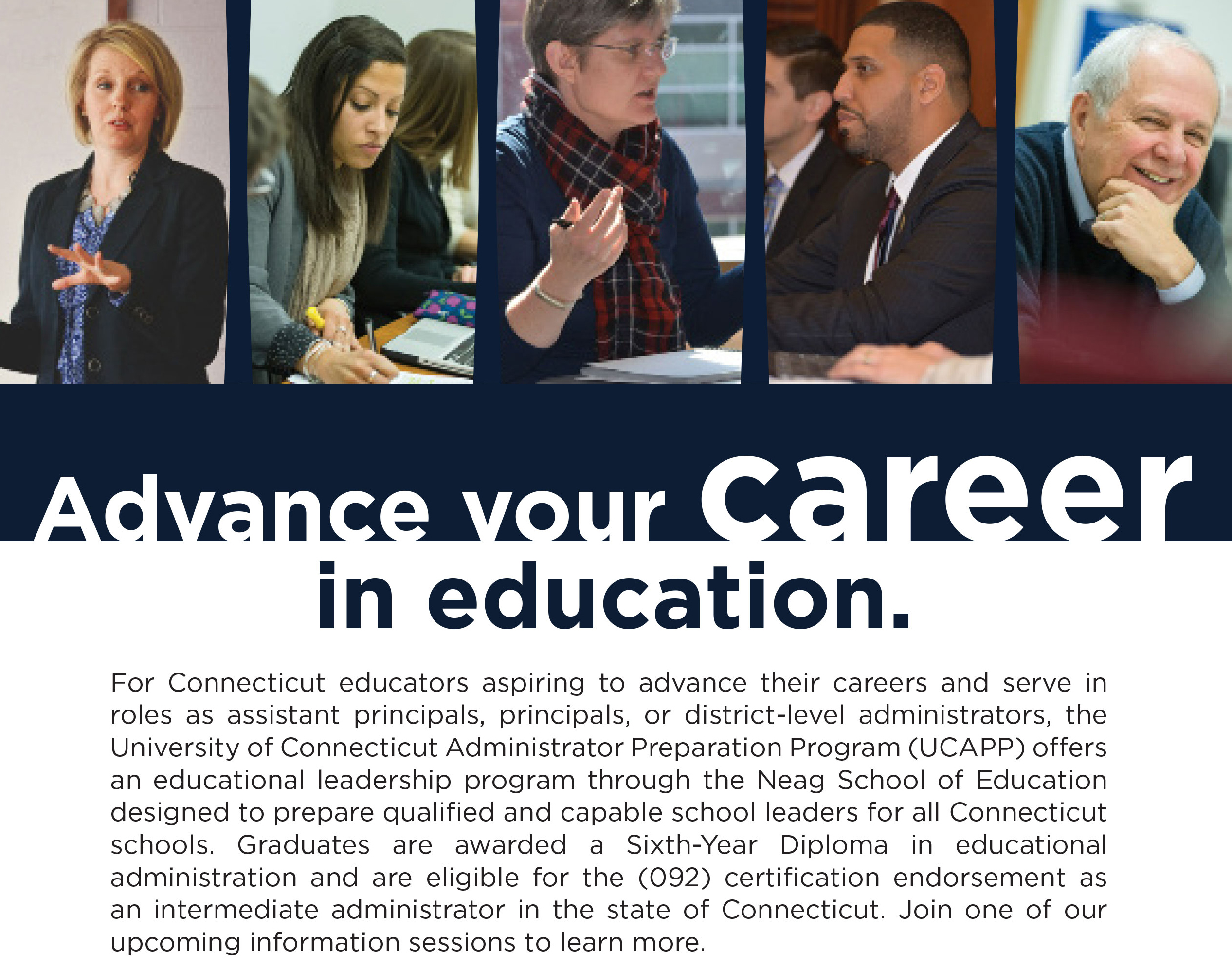 Advance your career in education ad.